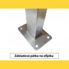 Stĺpik GALAXIA 60x40x1,50x1800 s pätkou / HNZ