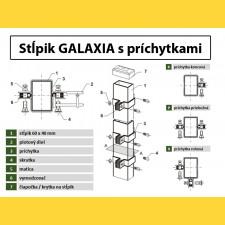 Stĺpik GALAXIA 60x40x1,50x2000 s pätkou / HNZ