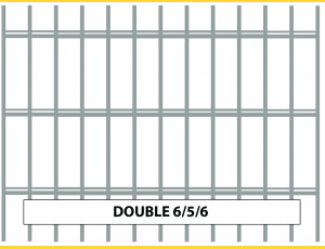Fence panel DOUBLE 6/5/6 / 1630x2500 / HNZ