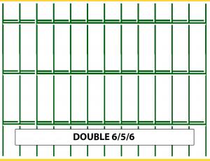 Fence panel DOUBLE 6/5/6 / 1430x2500 / ZN+PVC6005