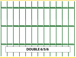 Fence panel DOUBLE 6/5/6 / 2030x2500 / ZN+PVC6005