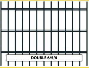 Fence panel DOUBLE 6/5/6 / 1430x2500 / ZN+PVC7016
