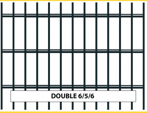 Fence panel DOUBLE 6/5/6 / 1830x2500 / ZN+PVC7016