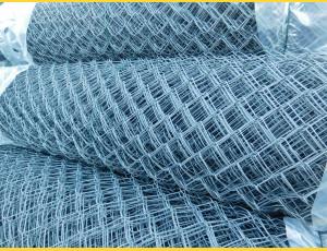 Chain link fence 50/2,50-1,65/100/25m / PVC BND / ZN+PVC7016