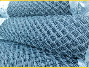 Chain link fence 50/2,50-1,65/125/25m / PVC BND / ZN+PVC7016