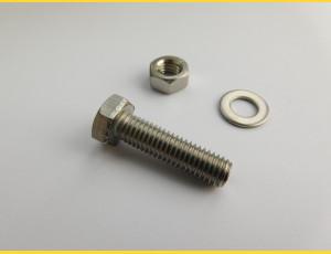 Skrutka ZN / M8x30 / komplet (skrutka, matica, podložka) / balenie 10ks