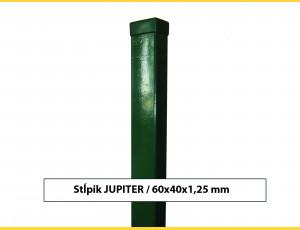 Stĺpik JUPITER 60x40x1,25x1800 / ZN+PVC6005