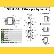 Stĺpik GALAXIA 60x40x1,50x1200 s pätkou / ZN+PVC7016