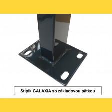 Stĺpik GALAXIA 60x40x1,50x2000 s pätkou / ZN+PVC7016
