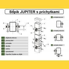 Stĺpik JUPITER 60x40x1,25x1800 / ZN+PVC7016