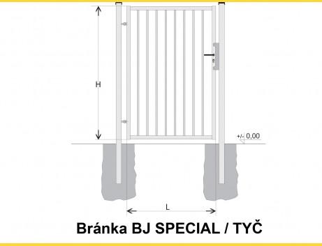 Brána BJ SPECIAL 1300x1000 / TYČ / HNZ