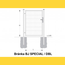 Brána BJ SPECIAL 1300x1000 / DBL / HNZ