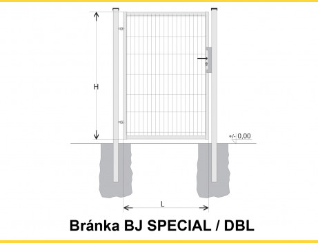Brána BJ SPECIAL 1600x1000 / DBL / HNZ
