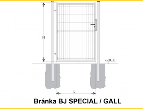 Brána BJ SPECIAL 1200x1000 / GALL / HNZ