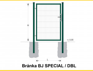 Gate BJ SPECIAL 1200x1000 / DBL / ZN+PVC6005