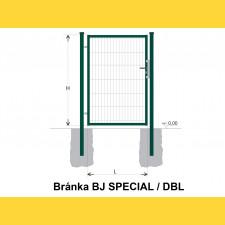 Brána BJ SPECIAL 1400x1000 / DBL / ZN+PVC6005