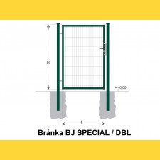 Brána BJ SPECIAL 1800x1000 / DBL / ZN+PVC6005