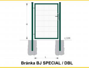 Gate BJ SPECIAL 2000x1000 / DBL / ZN+PVC6005