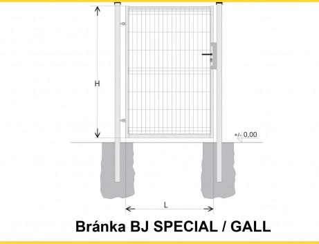 Brána BJ SPECIAL 1600x1000 / GALL / HNZ