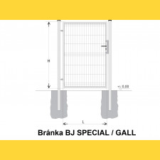 Brána BJ SPECIAL 1900x1000 / GALL / HNZ