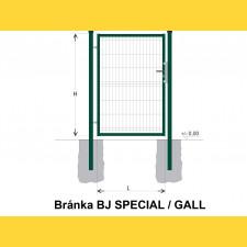 Brána BJ SPECIAL 1400x1000 / GALL / ZN+PVC6005