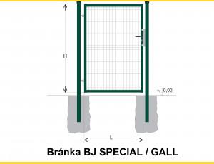 Gate BJ SPECIAL 1600x1000 / GALL / ZN+PVC6005