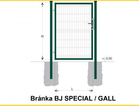 Brána BJ SPECIAL 1800x1000 / GALL / ZN+PVC6005