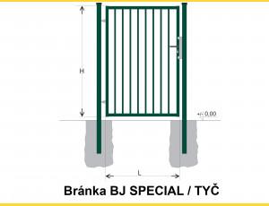 Gate BJ SPECIAL 2000x1000 / TYČ / ZN+PVC6005