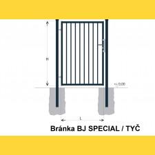 Brána BJ SPECIAL 1600x1000 / TYČ / ZN+PVC7016