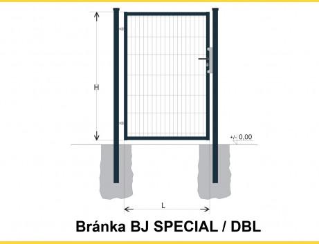 Brána BJ SPECIAL 1300x1000 / DBL / ZN+PVC7016
