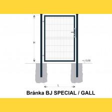 Brána BJ SPECIAL 1200x1000 / GALL / ZN+PVC7016
