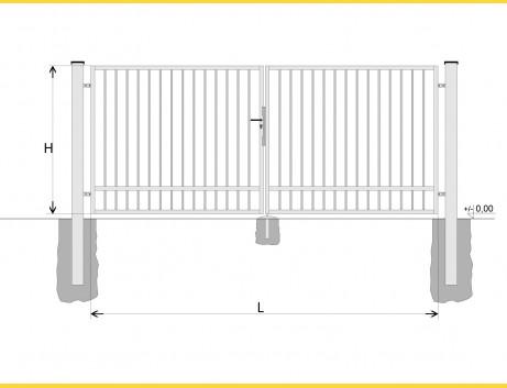 Brána BD SPECIAL 1400x5250 / TYČ / HNZ