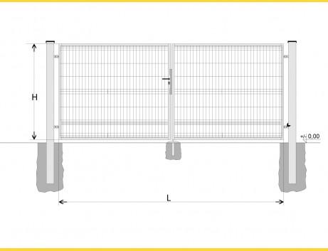 Brána BD SPECIAL 1900x4750 / GALL / HNZ