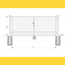 Brána BD SPECIAL 1400x5250 / DBL / HNZ