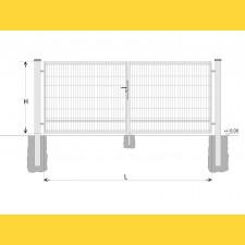 Brána BD SPECIAL 1500x4500 / DBL / HNZ
