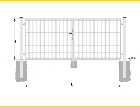 Brána BD SPECIAL 1700x3750 / DBL / HNZ