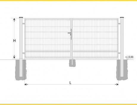 Brána BD SPECIAL 1900x4250 / DBL / HNZ