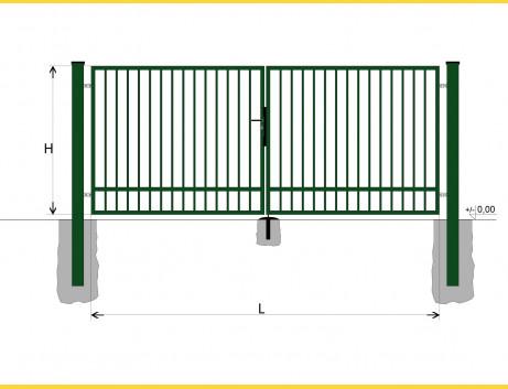 Brána BD SPECIAL 1400x3500 / TYČ / ZN+PVC6005