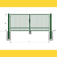 Brána BD SPECIAL 1400x4000 / TYČ / ZN+PVC6005