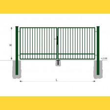 Brána BD SPECIAL 1600x6000 / TYČ / ZN+PVC6005