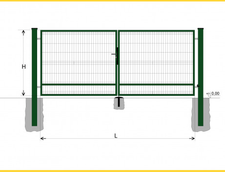 Brána BD SPECIAL 1400x3750 / GALL / ZN+PVC6005
