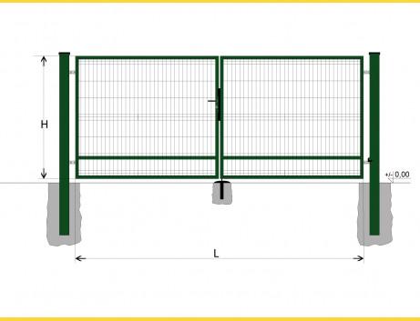 Brána BD SPECIAL 1400x5750 / GALL / ZN+PVC6005