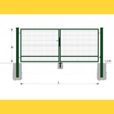 Brána BD SPECIAL 1500x3500 / GALL / ZN+PVC6005