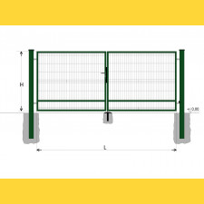 Brána BD SPECIAL 1600x6000 / GALL / ZN+PVC6005