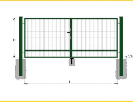 Brána BD SPECIAL 1400x3000 / DBL / ZN+PVC6005