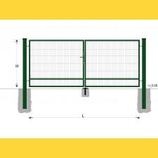 Brána BD SPECIAL 1600x4500 / DBL / ZN+PVC6005