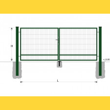 Brána BD SPECIAL 2000x5500 / DBL / ZN+PVC6005
