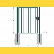 Brána BJ SOLID 1250x1200 / TYČ / ZN+PVC6005