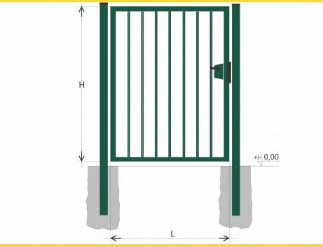 Brána BJ SOLID 1500x1200 / TYČ / ZN+PVC6005
