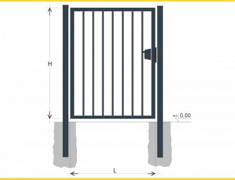 Brána BJ SOLID 1000x1000 / TYČ / ZN+PVC7016